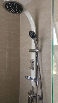 High quality white rain shower set singapore