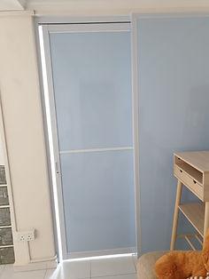 Aluminum frame sliding door with acrylic