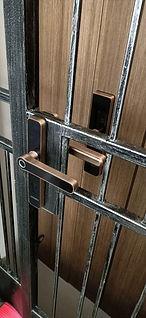 Singgate iron gate digital lock copper c