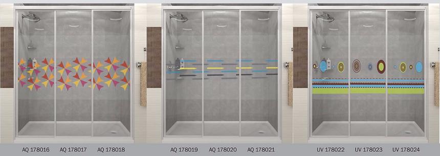 design panel aluminium shower screen Singapore lines design