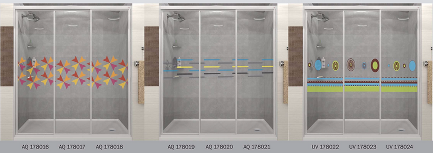 design panel aluminium shower screen Singapore lines design