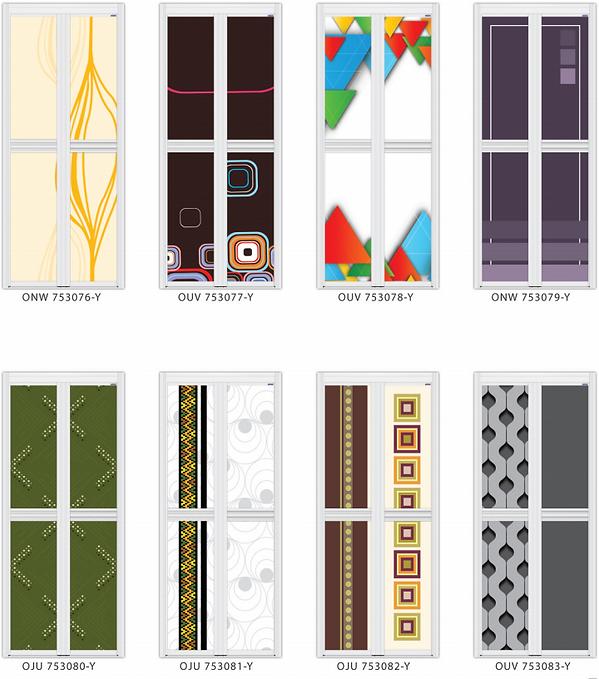 Designer bifold door singapore abstract art design | Designer toilet door balik design
