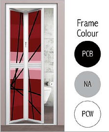 Premium Bifold Door Frame Colour For Bathroom in Singapore