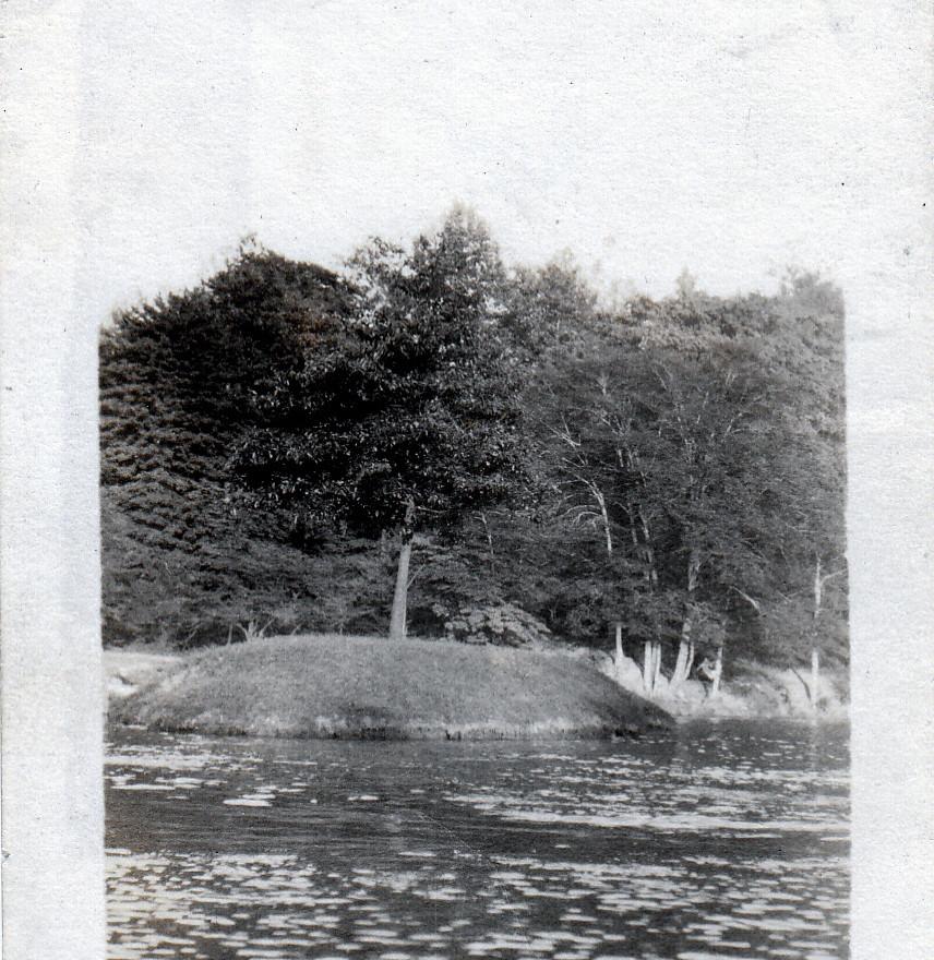 Island in Garfiels Lake 1940s or early 5