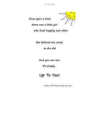 Up To You! Page from book