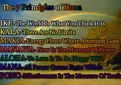 The 7 Principles of Huna in Rainbow Colors