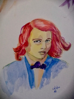 Portrait of Dante Gabriel Rossetti