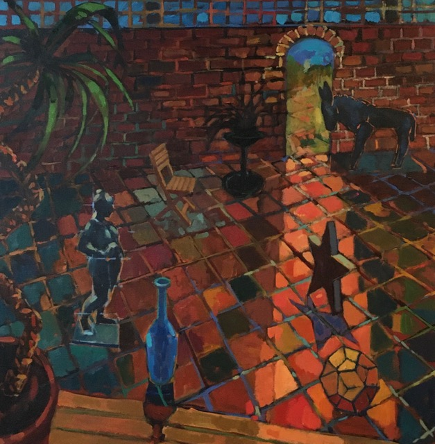 Garden with Willi Soukop Donkey