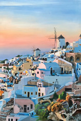 """""""Cubes, Cylinders and Spheres"""" - Santorini Sunset"""
