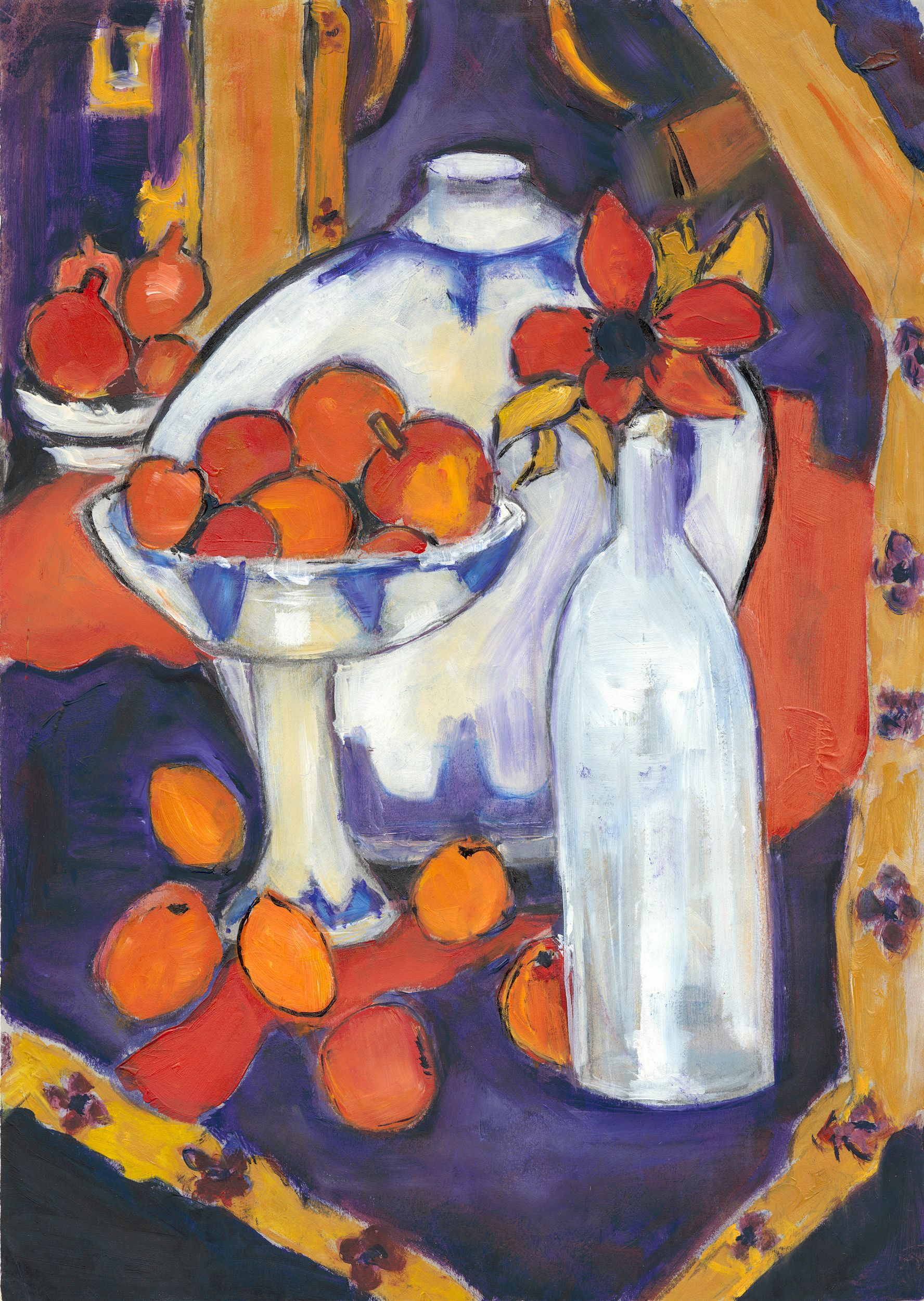 Bowl of Fruit after Matisse