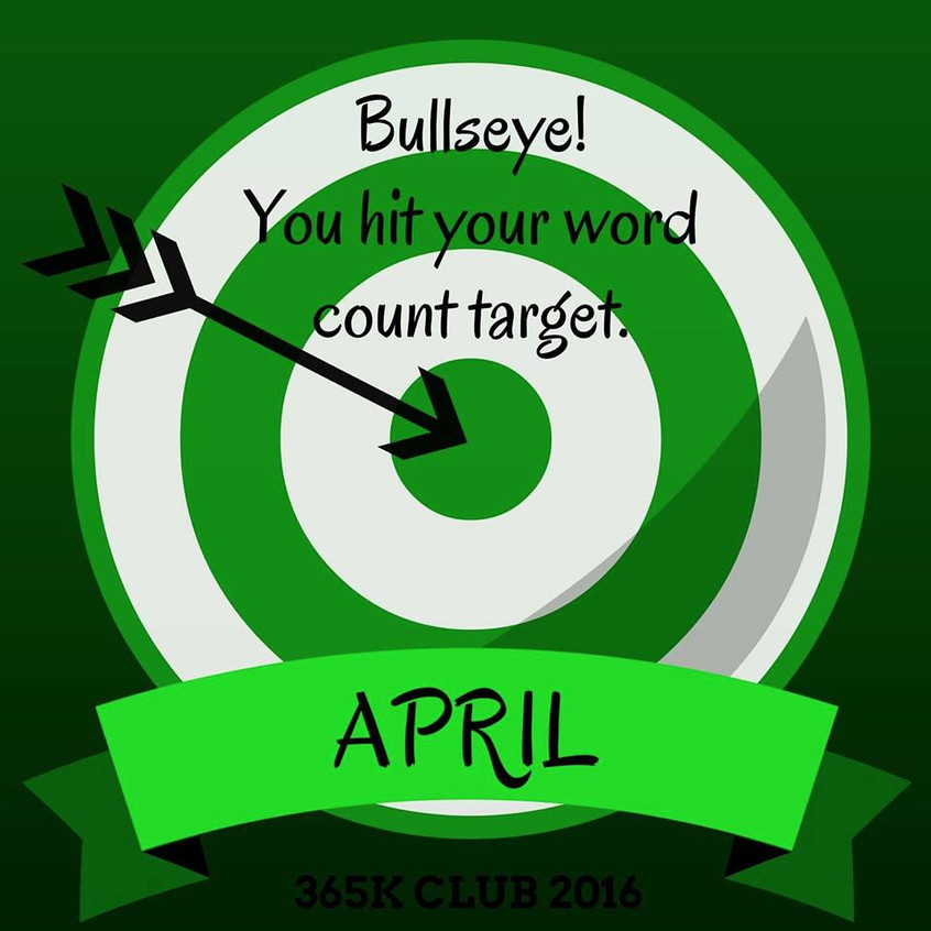 April  2016 365 word target badge