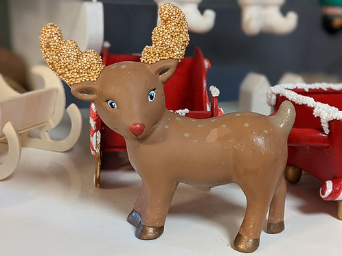 Standing REINDEER Ceramic + Paints Kit
