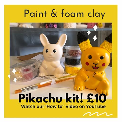 Pikachu Ceramic   Foam clay + Paints Kit