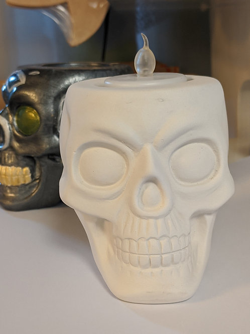 Solid SKULL T-Light  ceramic only