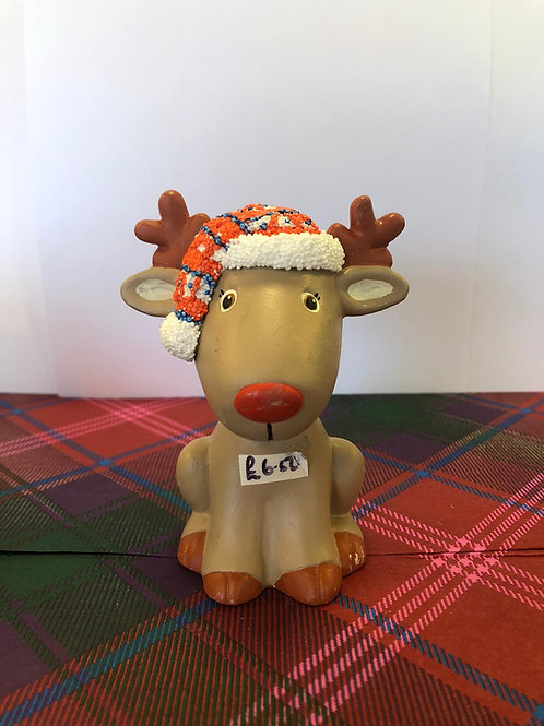 Sitting RUDOLPH with HAT Ceramic + Paints Kit