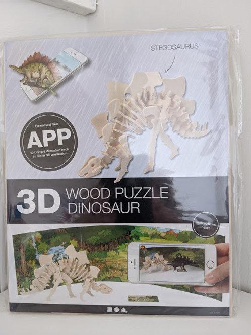 3D Dinosaur Wooden Kits (Set of 4)