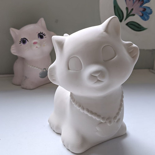 Cutie CAT Money bank Ceramic + Paints Kit