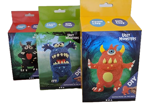 Foam Clay  - UGLY MONSTER Kits ( Set of 3 )