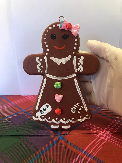 Large GINGERBREAD LADY hanger Ceramic only