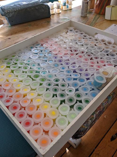 7 x Metallic Paint tubs (Pastel range)