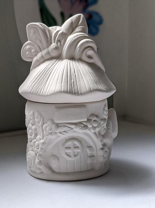 FAIRY HOUSE BOX Ceramic + Paints Kit