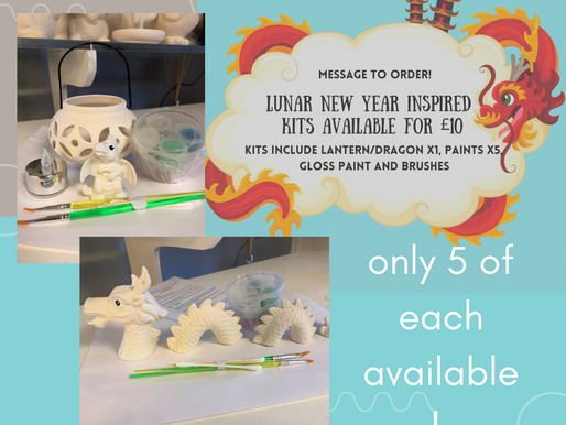 Lunar New Year inspired £10 bargain kits! 😍🎨🐲🐉