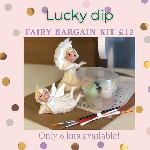 Pair Of Fairies Lucky Dip ceramic + Paints Kit