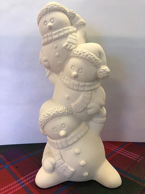 Stacking SNOWMAN Family Ceramic + Paints Kit