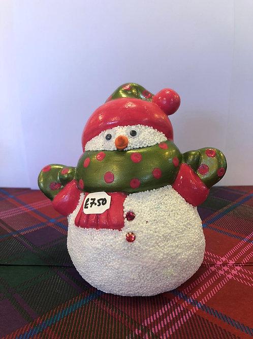 Party size SNOWMAN Ceramic + Paints Kit