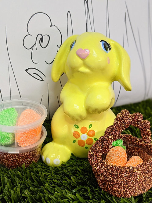 Bunny RABBIT Ceramic + Paints Kit