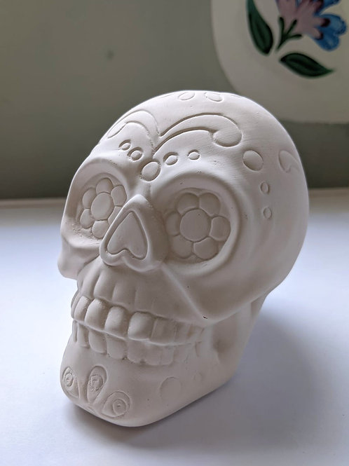 SUGAR SKULL Ceramic + Paints Kit