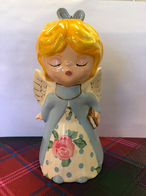 Retro style KISSING ANGEL Ceramic + Paints Kit