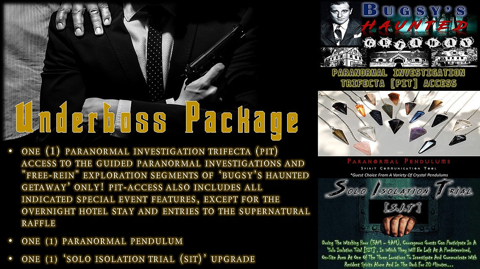 UNDERBOSS PACKAGE: BHG PIT-ACCESS TICKET
