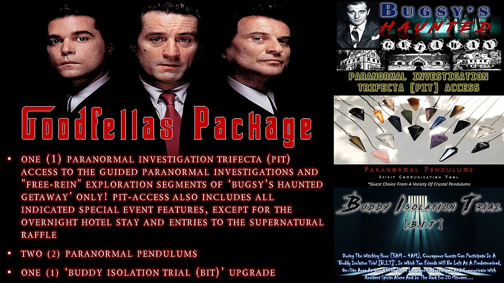 GOODFELLAS PACKAGE: BHG PIT-ACCESS TICKET