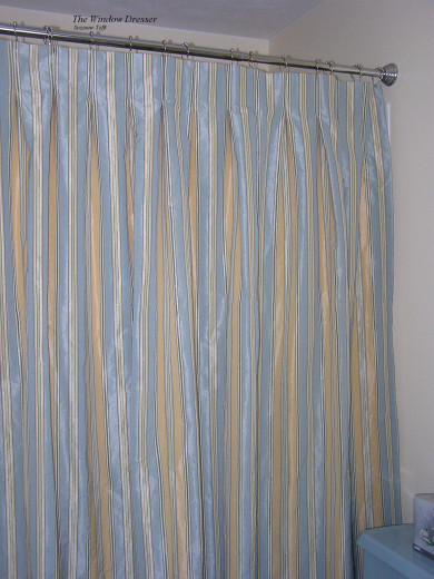 Box pleated shower curtain