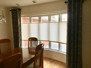 Graber top down/bottom up cordless blinds with stationary panels