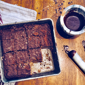 Kick the Coffee and Open Your Heart with Chunky Monkey Cacao Brownies.
