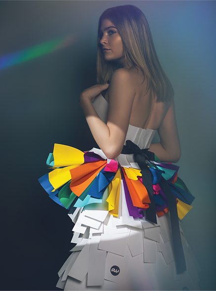 Retouhing Image Paper Dress