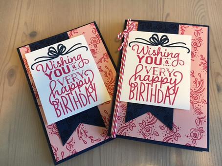 Big on Birthdays, 1 stamp set, 2 Ink challenge!!!