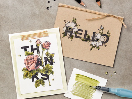 Stampin' Up Watercolour Pencils...