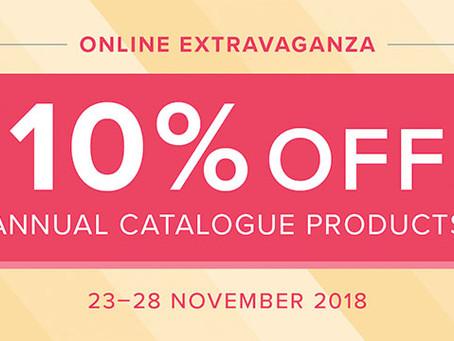Stampin' Up! Online Extravaganza 10% off