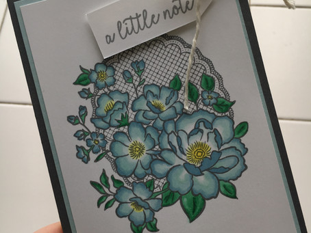 Quick and Easy Card #simplestamping - Lovely Lattice.