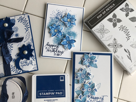 New Pop Of Petals stamp set and Punch 😍