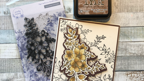Pretty penny stamps and Dalton Manor cardstock