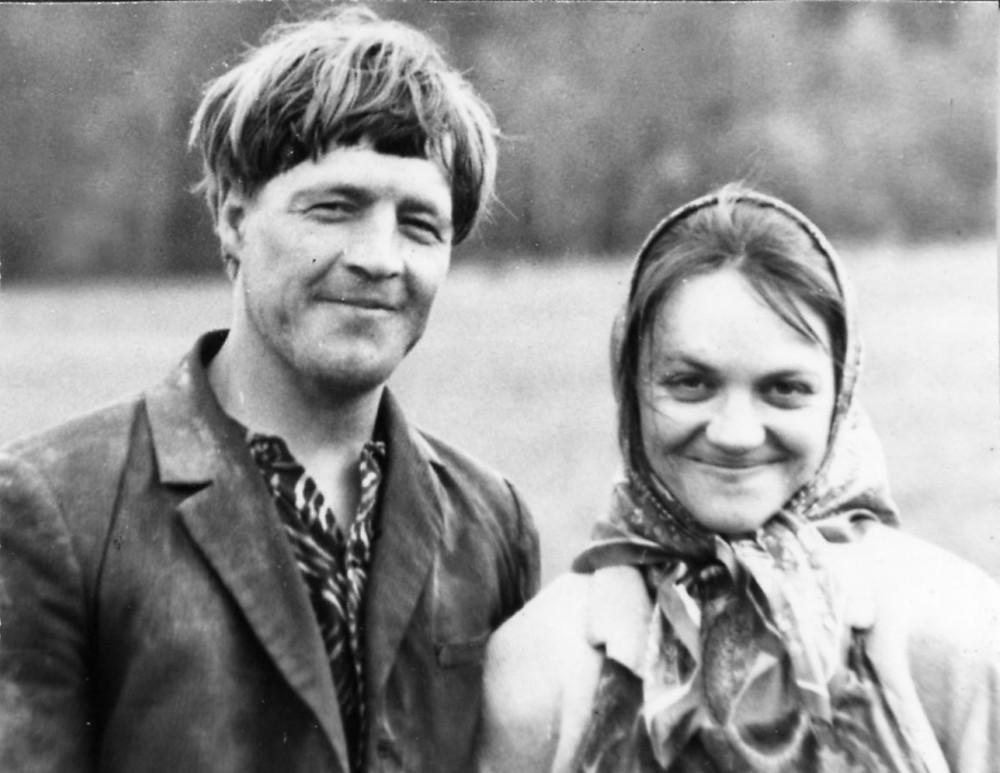 Ромак Маргуль і Ядзьвіга Далідовіч, хутар Вялікае Печышча, 1983.