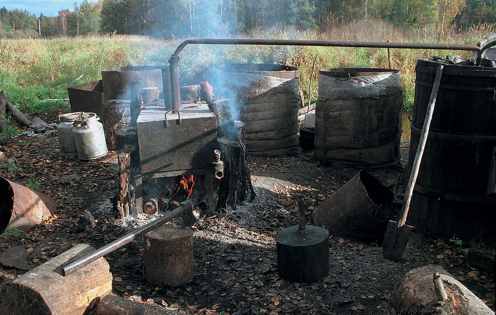 Самагонный заводзік Ромака й Ядзьвігі, Налібоцкая пушча, 1984.