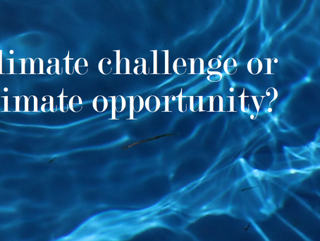 Climate challenge or climate opportunity?