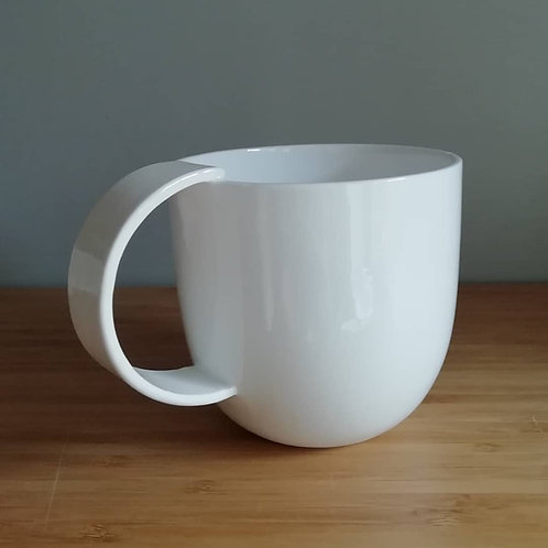 Minimalist Mug. Stylish Mug. China Mug. Contemporary Mug. Simple Mug. White Mug.