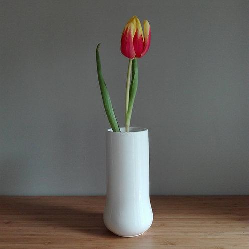 China Vase. White vase. 24 Carat Gold Lustre Vase. Simple Vase. Minimalist Vase.