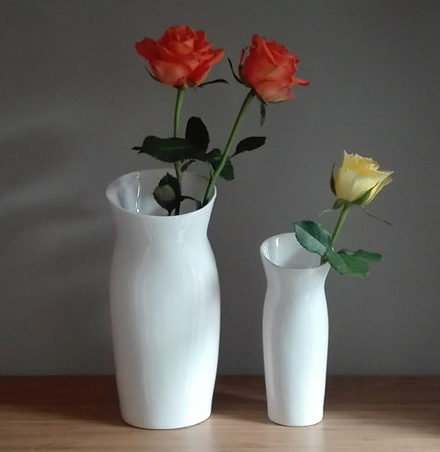 China Vase. Ceramic Vase. Contemporary Vase. White Vase. Stylish Vase.